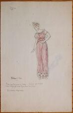 Projet de costume pour le théâtre Dessin signé J. BYENS mythologie Hélène