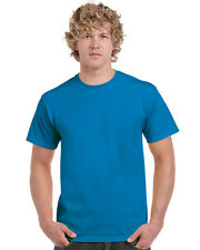 (tg. Large) Gildan Heavy Cotton Tee T-shirt Uomo Blue (antique Sapphire) Larg