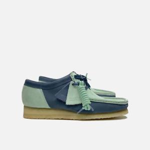 Clarks Originals Wallabee 2CLR Men's Suede Shoes Blue-Green Combi