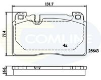 Comline Front Brake Pad Set CBP02302  - BRAND NEW - GENUINE - 5 YEAR WARRANTY