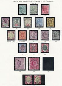 Lot:39017  GB EDVII   1902-13 Jubilee styled issue  1/2d to 5s