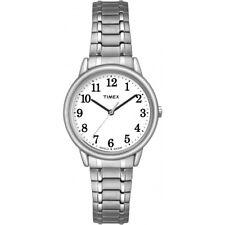 7823341cd809 Nuevo Reloj Timex TW2P78500 mujer Reloj con banda de expansión fácil lector  Silvertone