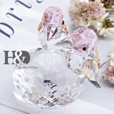 Crystal Lovebirds Figurines Christmas Ornaments Animal Collectibles Paperweights