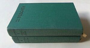 Biblia sacra iuxta vulgatam versionem. Two Volumes: Vol.1- Genesis-Psalmi, Vol.2