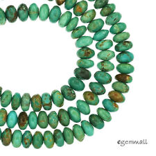 """16"""" Natural Chinese Turquoise Rondelle Beads 6mm Teal Blue #82215"""