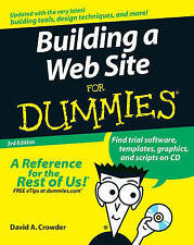 Building a Web Site For Dummies, Crowder, David A. | Paperback Book | Good | 978