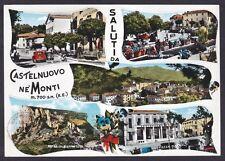 REGGIO EMILIA CASTELNOVO NE' MONTI 29 SALUTI DA... VEDUTINE Cartolina viagg 1961