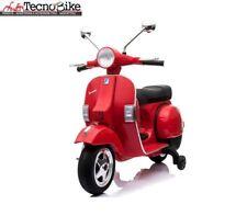 Moto elettrica per bambini PIAGGIO VESPA PX 150 con rotelle 12V luci led Rosso