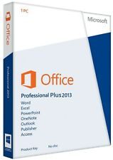 100% Genuine Microsoft Office 2013 Professional Plus For Five PC