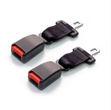 Pair 9inch Black Car Seat Seatbelt Safety Extender Belt Clip Extension Buckle
