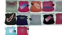 Nike Little Girls Short Sleeves Tee Shirt Cotton  Size 2 T  3 T  4  6  6 x NWT