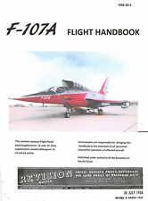 F-107A Flight Handbook Flight Manual Pilot's Handbook  -  CD Version