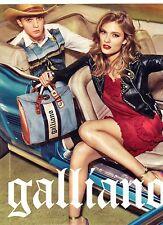 PUBLICITE  2012  JOHN  GALLIANO pret à porter, sac, chaussures vetements