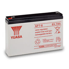 NP7-6 GENUINE Yuasa 6V 7Ah Valve Regulated Lead-Acid Rechargeable Battery