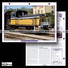#006.12 Fiche Train - Chemin de fer : LE LOCOTRACTEUR Y-8100 de la SCNF - 1977