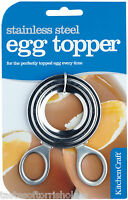 Kitchen Craft Stainless Steel Boiled Egg Shell Topper Cutter