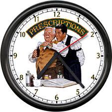 Drug Store Pharmacy Pharmacist Retro Sign Wall Clock