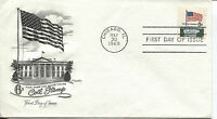 1969 FLAG OVER WHITE HOUSE 6 CENT COIL  ARTMASTER CACHET UNADDRESSED FDC