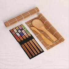 Kitchen Sushi Maker Kit Roll Mat Spoon Roller Mold Mould DIY Set