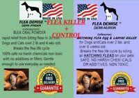 Instant Flea Killer 416 doses + monthly hatching flea killer Dog Cat up to 25lb