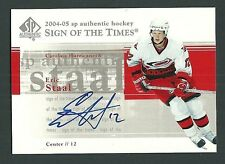 Eric Staal Carolina Hurricanes 2004-05 SP Authentic Sign of the Times Auto Card