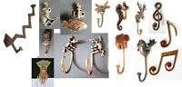 SOLID BRASS WALL hooks coat hanger FISH MONKEY LIZARD OWL FAIRY FROG HAND CLIP