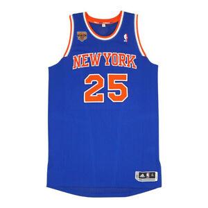 Derrick Rose Adidas 2016-17 New York Knicks Authentic Pro Cut Jersey Large