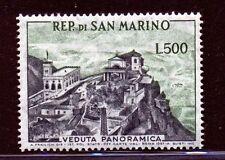 San Marino 1958 Veduta il 500 L grigio verde -integro e perfetto-Cat Bolaffi 483