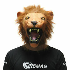 Halloween Cosplay Mask Animal Angry Lion Latex Mask Adult Costume Party Prop HOT