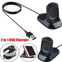 2 in1 USB Charger Charging Dock Phones Stand Holder for Misfit Vapor Smartwatch
