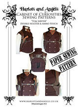 Paper Pattern Steampunk  Double Shoulder  Holster &  Ammo Pouch leather work