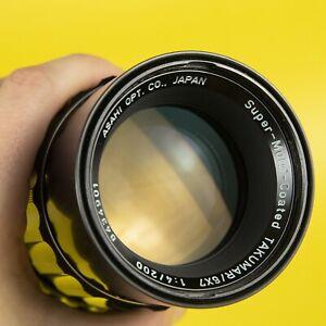 Asahi Pentax 6x7 67 Takumar 6x7 SMC 200mm F4 Lens Great Condition stunning
