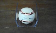 RAWLINGS NATIONAL LEAGUE HANK AARON SIGNED BASEBALL
