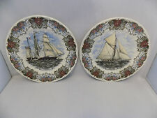 Churchill Currier & Ives Collector's Assiettes x 2