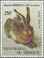 Timbre Animaux Lapins Djibouti PA126 ** lot 16261