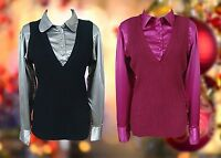 Curve blouse / tank top Ladies womens plus size - black silver or 2 tone pink