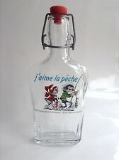 Rare bouteille gourde en verre Gaston Lagaffe 1989 Grès de la Roche Franquin