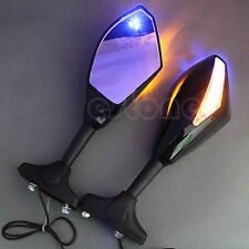 LED Turn Signal Integrated Mirrors For Honda CBR 600 1000 RR Suzuki GSXR