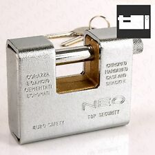 ARMOURED SHUTTER PADLOCK Large 80mm High Security Lock Container/Shop/Storage
