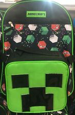 Minecraft Creeper TNT Boys Backpack With Detachable Lunchbox