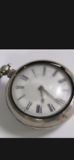 More details for antique thomas maston verge silver cased 18c pocket watch very rare