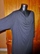 New Tag ~ EILEEN FISHER ~ $318 Black Silk Jersey Plus Size 2X Drape Neck DRESS