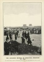 1904 Japanese Execution Russo-Japanese War Prisoner of War great old photo print