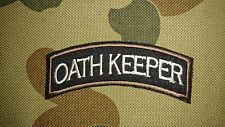 NEW OATH KEEPER BROWN BLACK TACTICAL MILITARY AIRSOFT COSPLAY PATCH AUSTRALIA AU