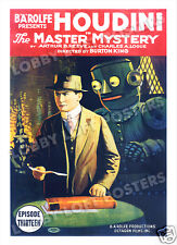 THE MASTER MYSTERY LOBBY CARD POSTER OS 1919 HARRY HOUDINI SERIAL EPISODE 13
