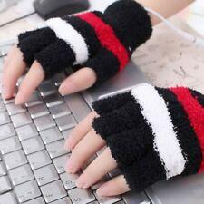 USB Heating Winter Hand Warm Gloves Heated Fingerless Warmer Mitten