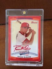 2013 Bowman REESE McGUIRE 1/10 Perfect Game Autograph Auto Non Chrome American