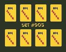 Mah Jongg Jong Mahjong Joker Stickers - Set #905 ** Free Shipping **