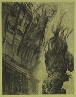 Ernst FUCHS (geb. 1930) Radierung Zyklus Samson - Samson vor dem Hause Dagons