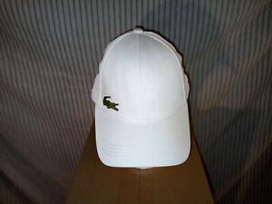 (H47) LaCoste Baseball Cap, One Size Adjustable, NWOT, White